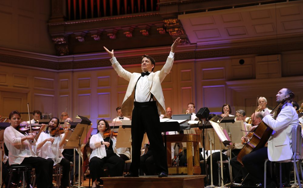 Conductor Keith Lockhart with the Boston Pops in a file photo. (Courtesy Winslow Townson)