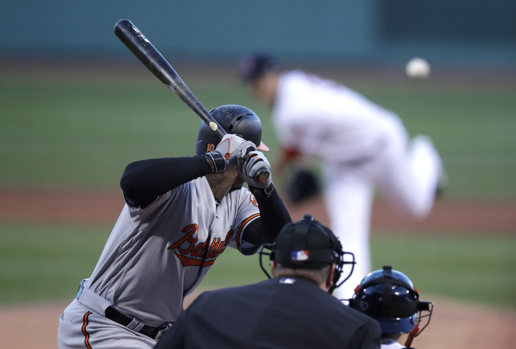 Clinton blamed Comey, Comey got nauseous, Red Sox fans got angry, and Trump fudged U.S. history. All that and more from Tom Keane's roundup of the week in the news. Pictured: Baltimore Orioles' Adam Jones during a game at Fenway Park in Boston, Wednesday, May 3, 2017. (Charles Krupa/AP)