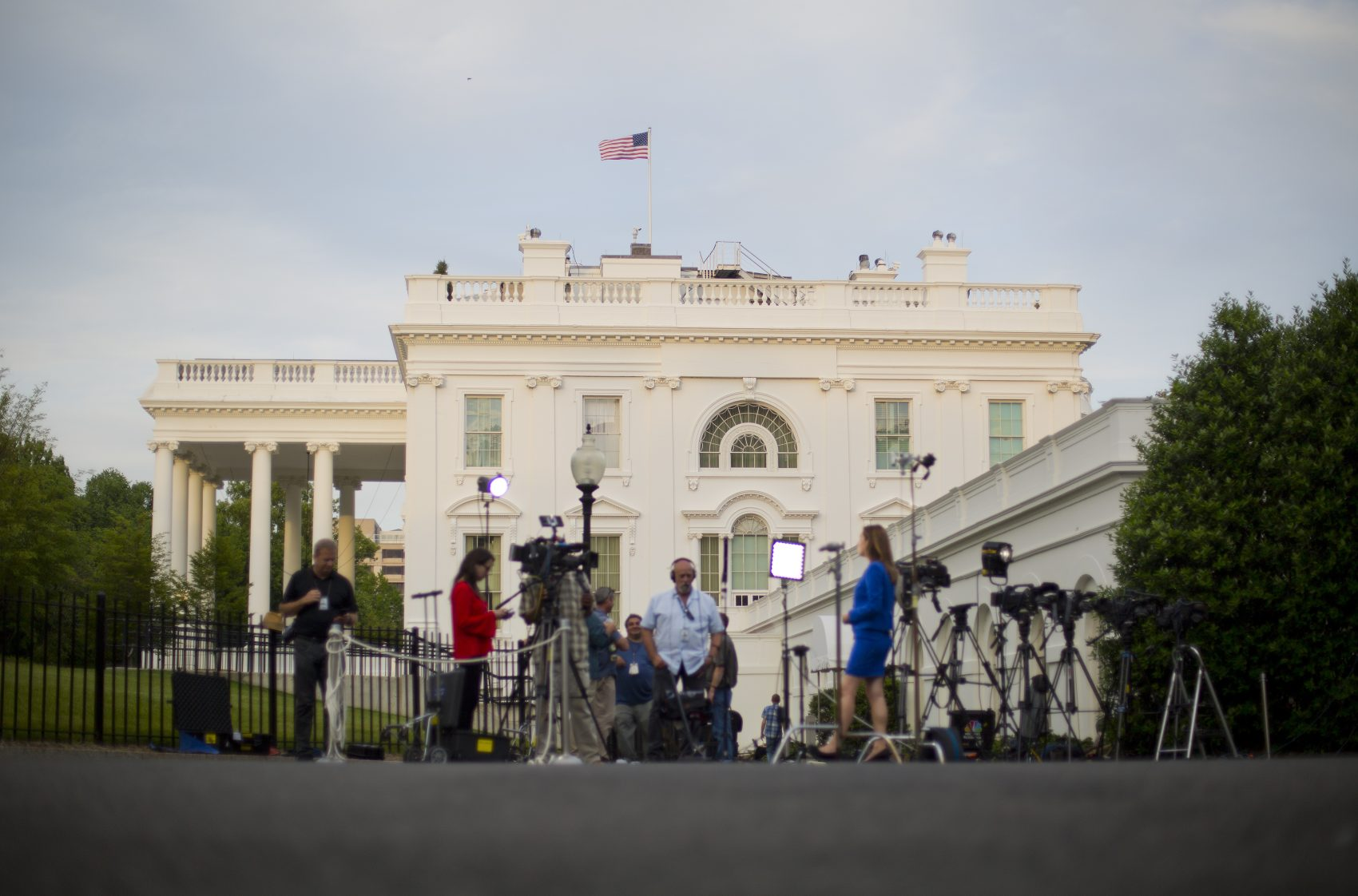 The White House distracts, talk of impeachment abounds and malicious software makes its way around the globe. All that and more in Tom Keane's roundup of the week in the news. Pictured: Television network crews begin their evening news broadcast outside the White House, Wednesday, May 17, 2017. (Pablo Martinez Monsivais/AP)