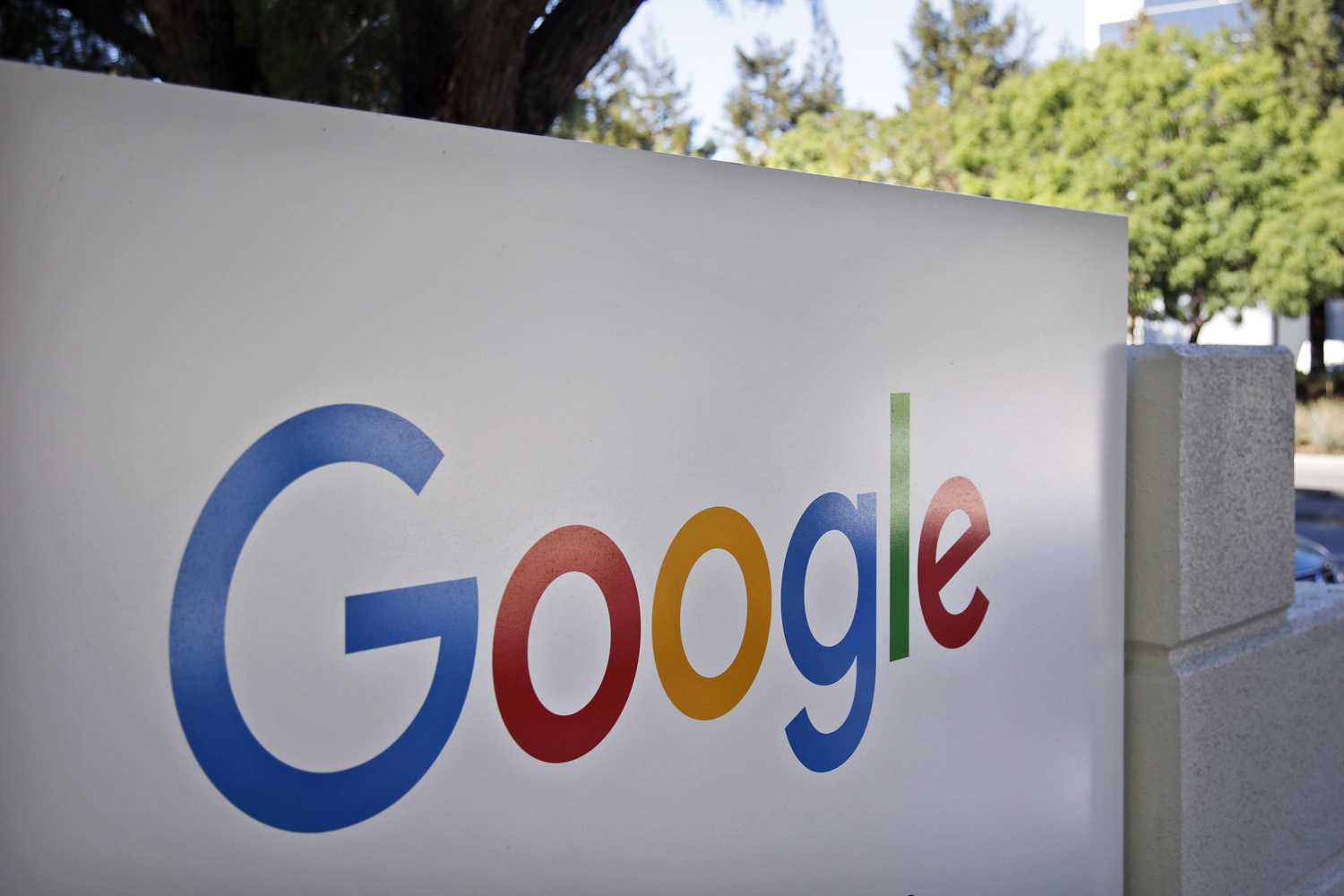This Oct. 20, 2015, file photo, shows a sign outside Google headquarters in Mountain View, Calif. Google is warning users Wednesday, May 3, 2017, to beware of a phishing scam spread by a fraudulent invitation to share a Google Doc. (Marcio Jose Sanchez/AP)