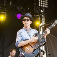 Pokey LaFarge seen during day two of Forecastle Music Festival at Waterfront Park on July 16, 2016, in Louisville, Kentucky. (Amy Harris/AP)