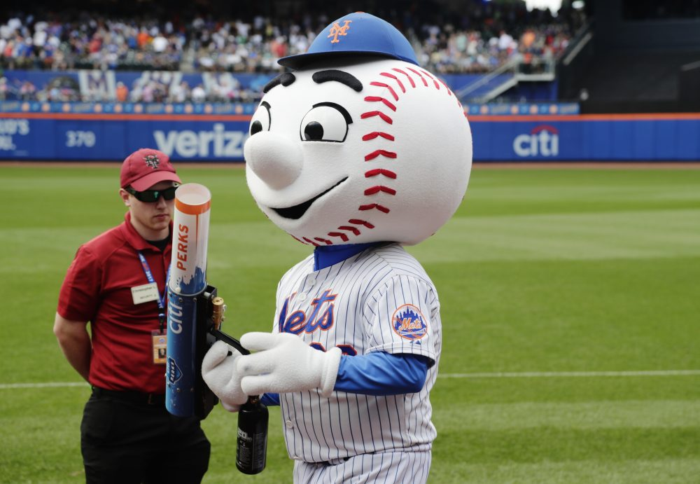 Despite Mr. Met's mean streak on Wednesday night, the Mets have decided to only reassign the employee in the costume, not fire him altogether. (Frank Franklin II/AP)