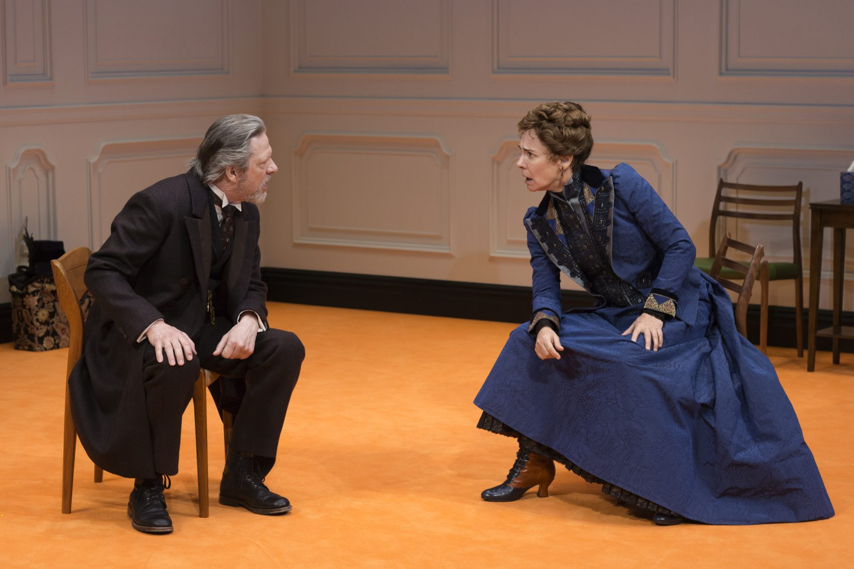 """Chris Cooper and Laurie Metcalf in a scene from """"A Doll's House, Part 2."""" (Courtesy Brigitte Lacombe)"""