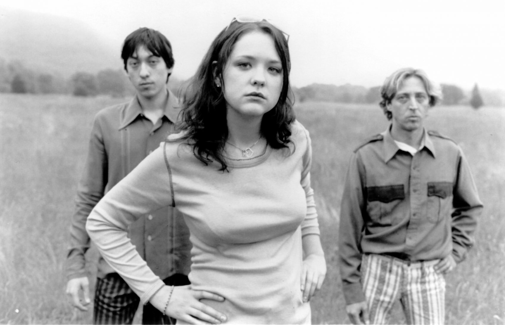Mary TImony with Ash Bowie and Shawn Devlin of the '90s Boston rock band Helium. (Courtesy James Smolka/Matador Records)