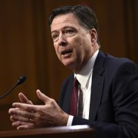 Former FBI Director James Comey testifies before the Senate Intelligence Committee on Capitol Hill in Washington, D.C., June 8, 2017. (Saul Loeb/AFP/Getty Images)