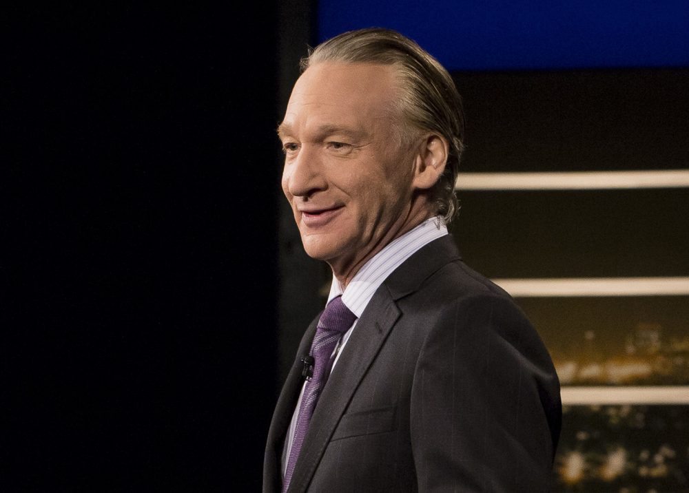 """This June 2, 2017 photo released by HBO shows Bill Maher, host of """"Real Time with Bill Maher,"""" in Los Angeles. HBO says academic Michael Eric Dyson will be filling this week's guest slot after Sen. Al Franken bowed out of """"Real Time with Bill Maher"""" in the wake of Maher's use of a racial slur last week. (Janet Van Ham/HBO via AP)"""