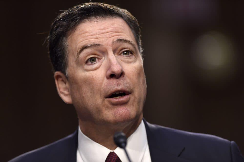 Former FBI Director James Comey testifies before the Senate Intelligence Committee in Washington, D.C., June 8, 2017. (Saul Loeb/AFP/Getty Images)