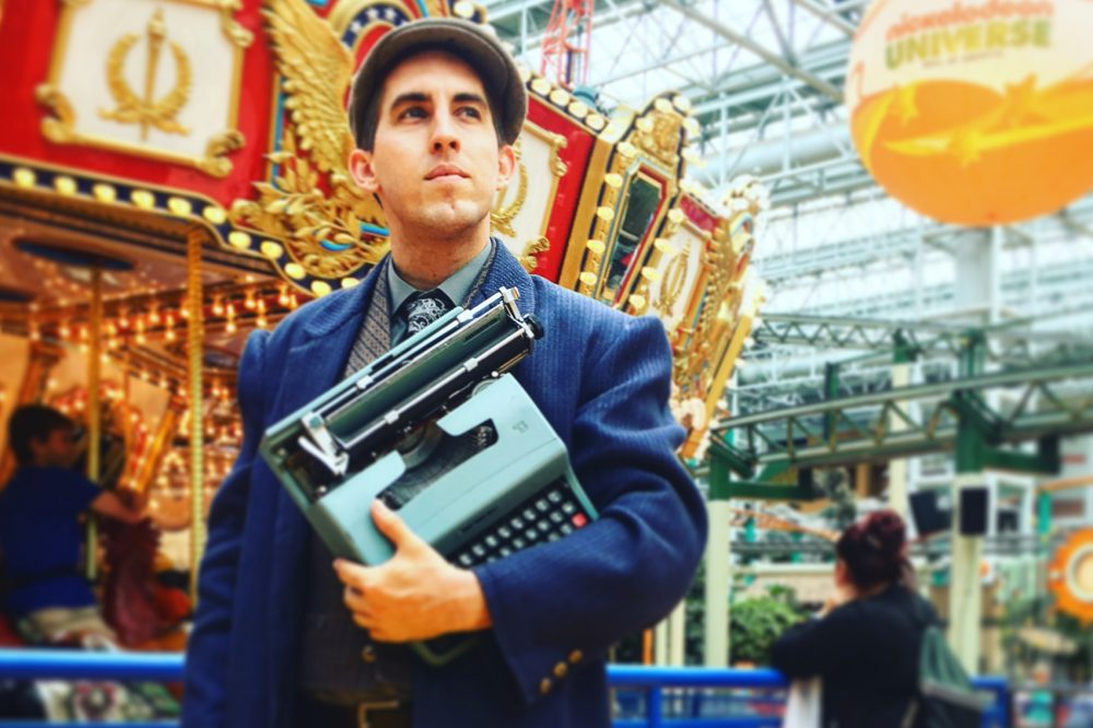 Poet And His Typewriter Take Up Residency At Mall Of America