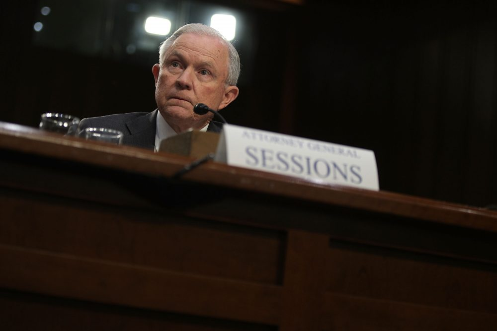 U.S. Attorney General Jeff Sessions testifies before the Senate Intelligence Committee on Capitol Hill June 13, 2017 in Washington. (Alex Wong/Getty Images)
