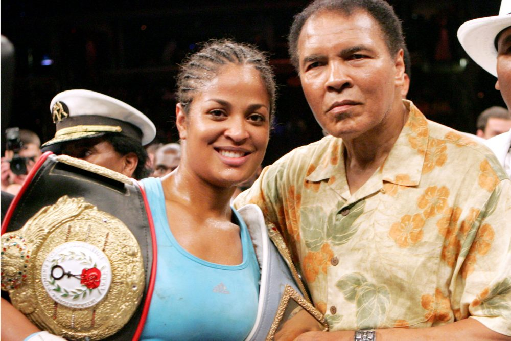 Laila and Muhammad Ali. (Pablo Martinez Monsivais/AP)