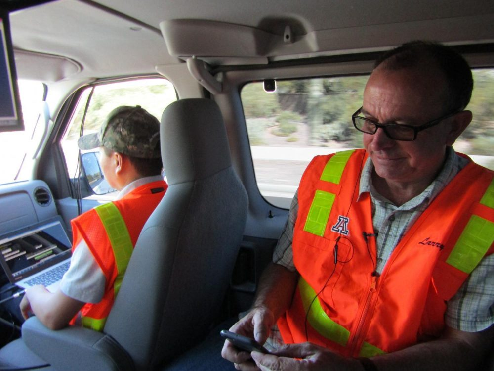 University of Arizona professor Larry Head works with the Maricopa County Department of Transportation on the connected car technology. (Casey Kuhn/KJZZ)