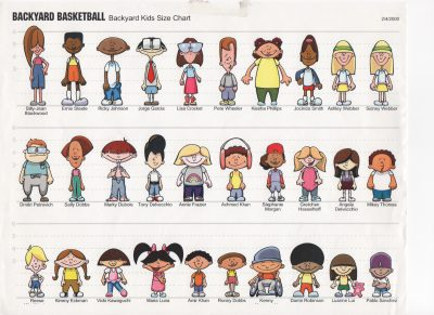 The original 30 characters. (Courtesy Aimee Paganini)