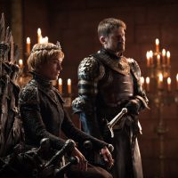 """Cersei Lannister sits on the Iron Throne in Season 7 of """"Game of Thrones."""" (Courtesy Helen Sloan/HBO)"""