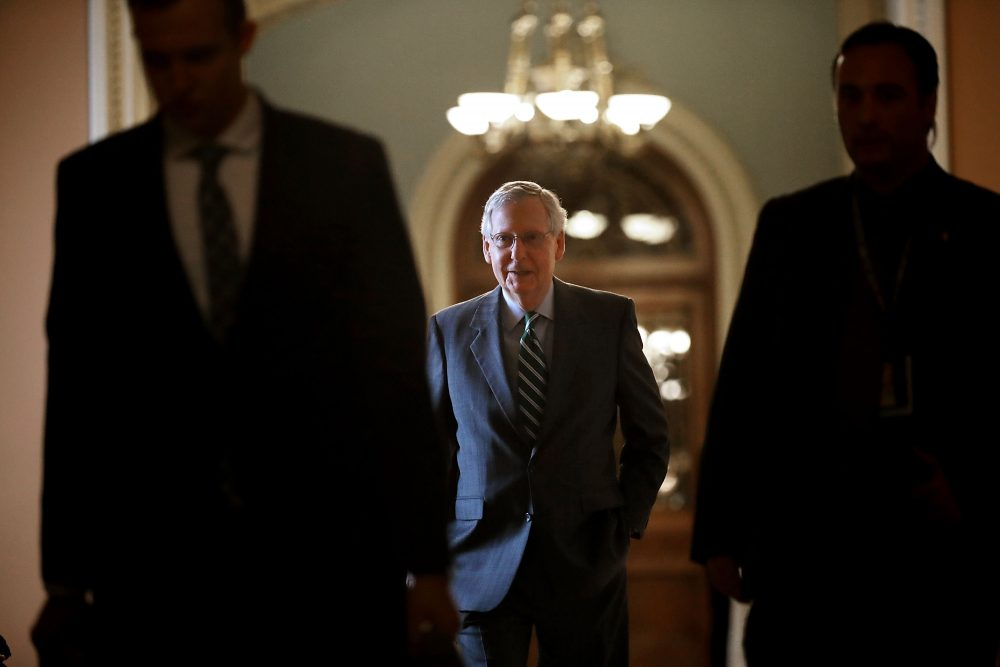 Senate Majority Leader Mitch McConnell (R-Ky.) arrives at the U.S. Capitol June 22, 2017 in Washington. (Chip Somodevilla/Getty Images)