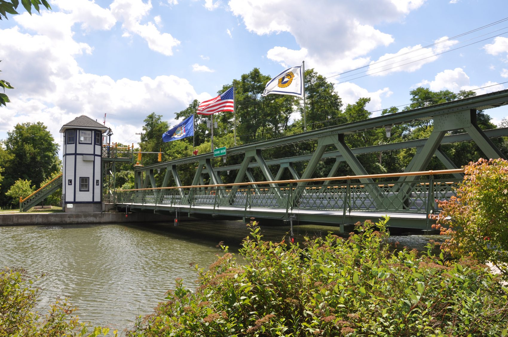 Lift Bridge at Adams Basin on the Erie Canal. (Jean Mackay)