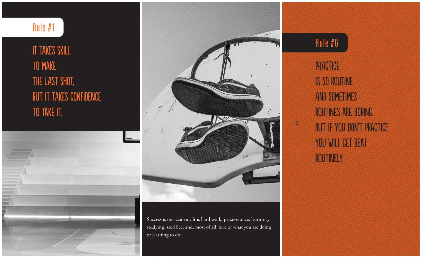 """Images from author Kwame Alexander's book """"The Playbook: 52 Rules to Aim,  Shoot"""