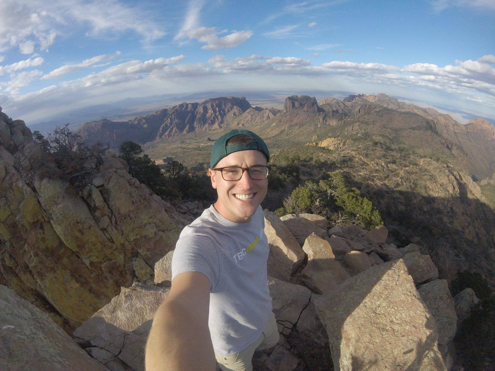 Mikah Meyer on top of Emory Peak in Big Bend National Park in Texas. (Courtesy of Mikah Meyer)