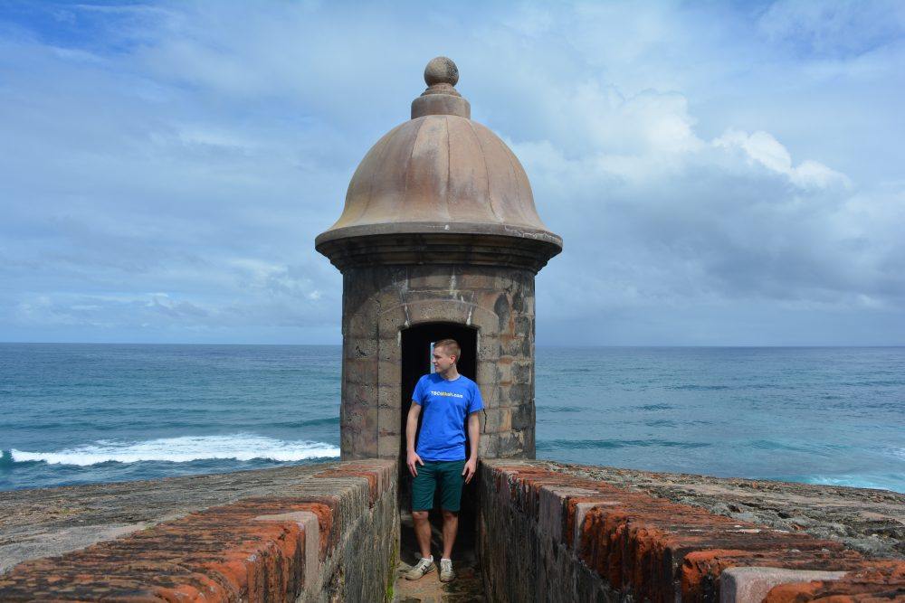 Meyer at the San Juan National Historic Site in San Juan, Puerto Rico. (Courtesy Mikah Meyer)