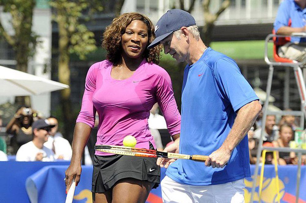 John McEnroe (right) recently said Serena Williams is the best female player of all time -- but that she'd be ranked 700th on the men's circuit. (Rob Tringali/Getty Images for DirecTV)