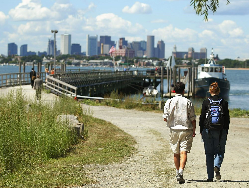 In this file photo, Outward Bound campers head for the ferry back to Boston from Thompson Island, one of the Boston Harbor Islands. Boston Public Schools is teaming up with the Outward Bound program as it works to re-envision summer school. (Winslow Townson/AP)