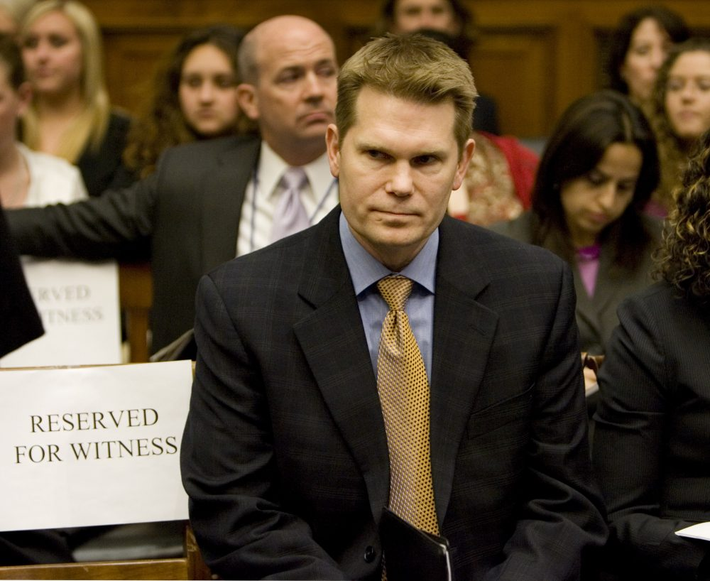 Former FBI Agent Mike German waits to testify on Capitol Hill in 2008. (J. Scott Applewhite/AP)
