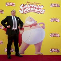 "Author Dav Pilkey seen at DreamWorks Animation and Twentieth Century Fox ""Captain Underpants: The First Epic Movie"" Los Angeles Premiere at Regency Village Theater on Sunday, May 21, 2017. (Eric Charbonneau/ AP)"