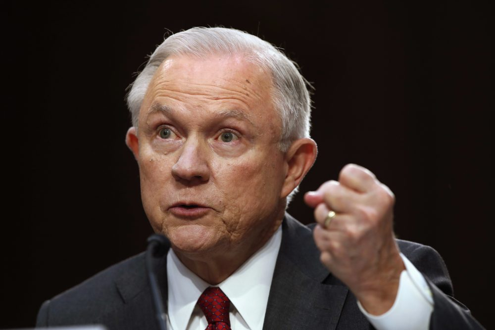 Attorney General Jeff Sessions wore his allegiance to the president like a badge of defiance during testimony before the Senate Intelligence Committee, writes Susan E. Reed. (Jacquelyn Martin/ AP)