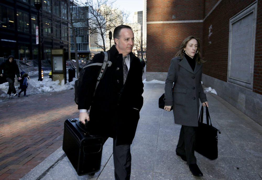 The jury convicted pharmacist Barry Cadden, seen here in March, of racketeering and mail fraud, but acquitted him on 25 murder charges. Except the verdict form suggests jurors were divided when they were supposed to be unanimous. And the judge has refused to release the jury list. (Steven Senne/AP)