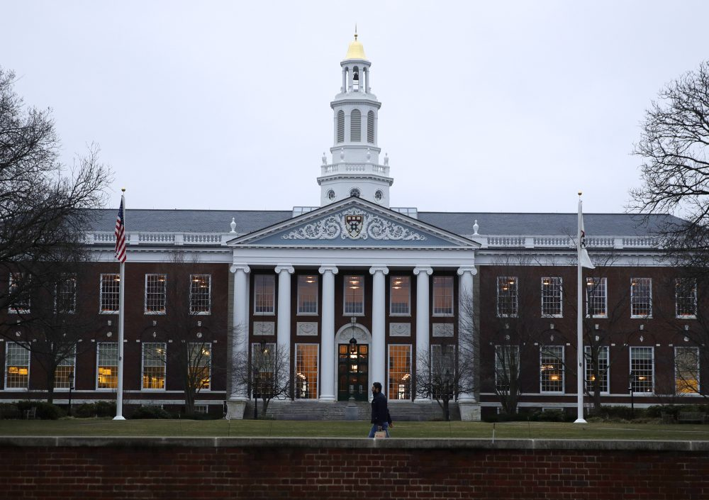 The Baker Library at the Harvard Business School (Charles Krupa/AP)