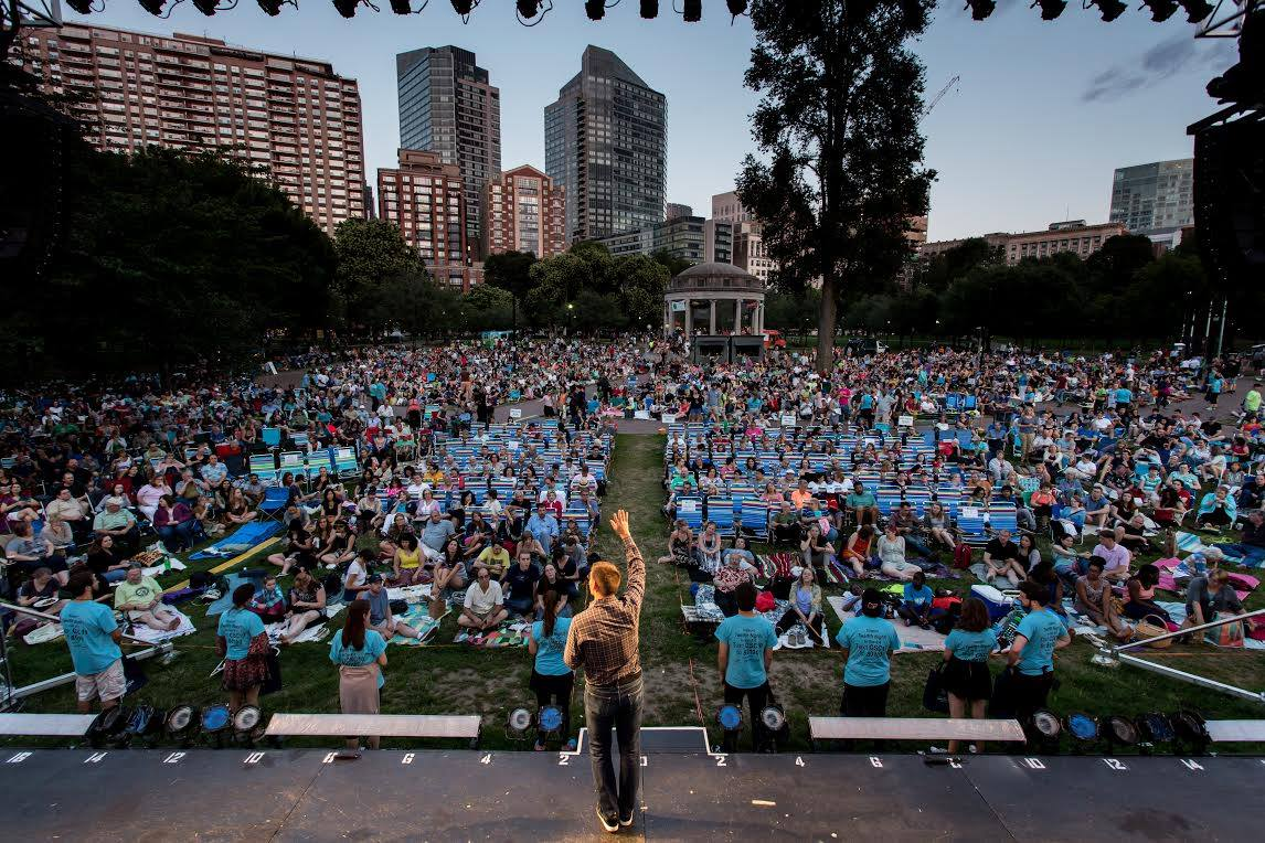Commonwealth Shakespeare Company's annual free performance in Boston Common is just one of the many options for summer theatergoers. (Courtesy Commonwealth Shakespeare Company)