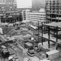 A view of Kendall Square back before it was a hub of the biotech sector. (Courtesy Cambridge Redevelopment Authority)