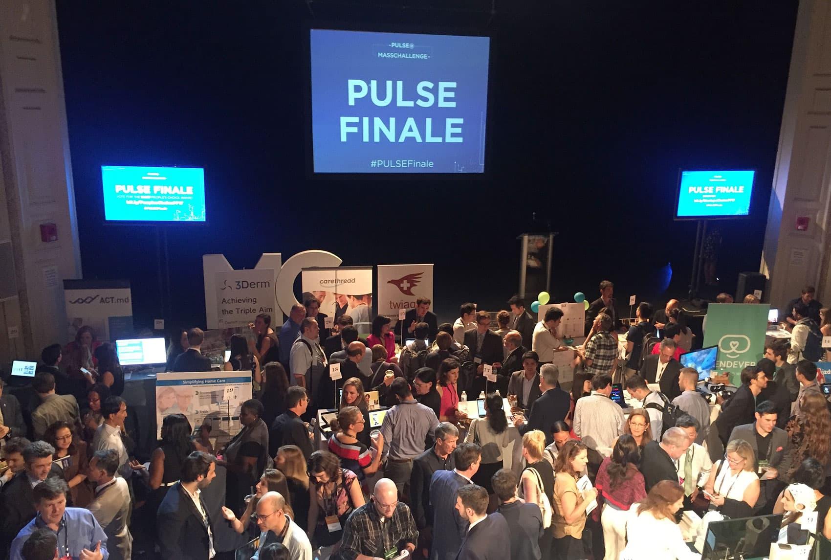 The PULSE event Tuesday night in Boston (Rachel Zimmerman/WBUR)
