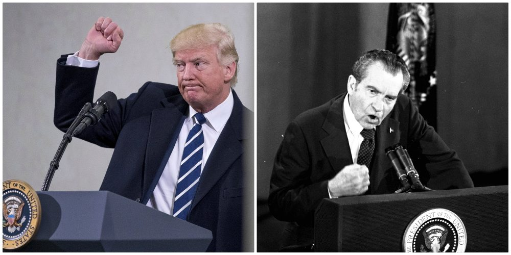 Recent Trump comparisons to Nixon obscure the fact that Nixon left a remarkably progressive domestic record, writes Thomas J. Whalen. (Both photos AP)
