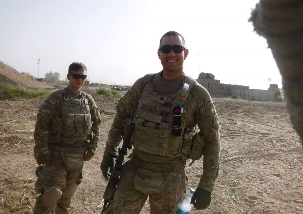 Jeffrey Machado is one of two Massachusetts veterans now suing state Treasurer Deb Goldberg, saying that they were unjustly denied their Welcome Home Bonus after serving in Afghanistan. (Courtesy)