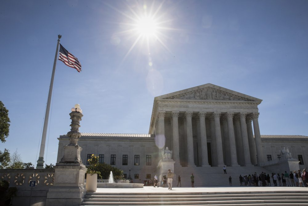People visit the Supreme Court in Washington, Monday, June 26, 2017, as justices issued their final rulings for the term, in Washington. (J. Scott Applewhite/AP)