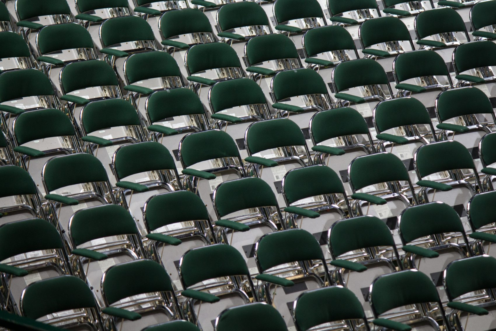 Chairs set up for a graduation ceremony. (Katie Montgomery/Unsplash)