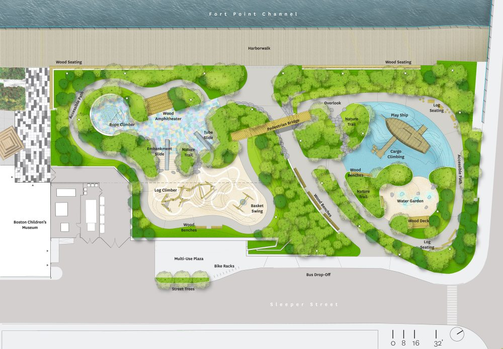 A rendering of Martin's Park (Courtesy of the city of Boston)