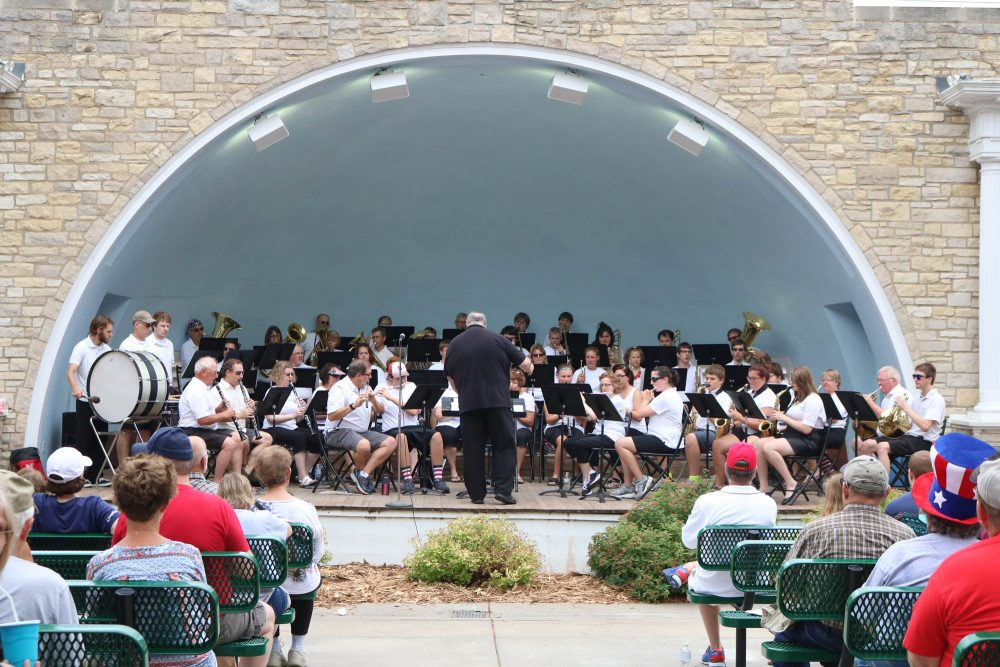 The Seward Municipal Band plays a concert of Sousa and patriotic music every Fourth of July. (Courtesy of the Seward County Independent)