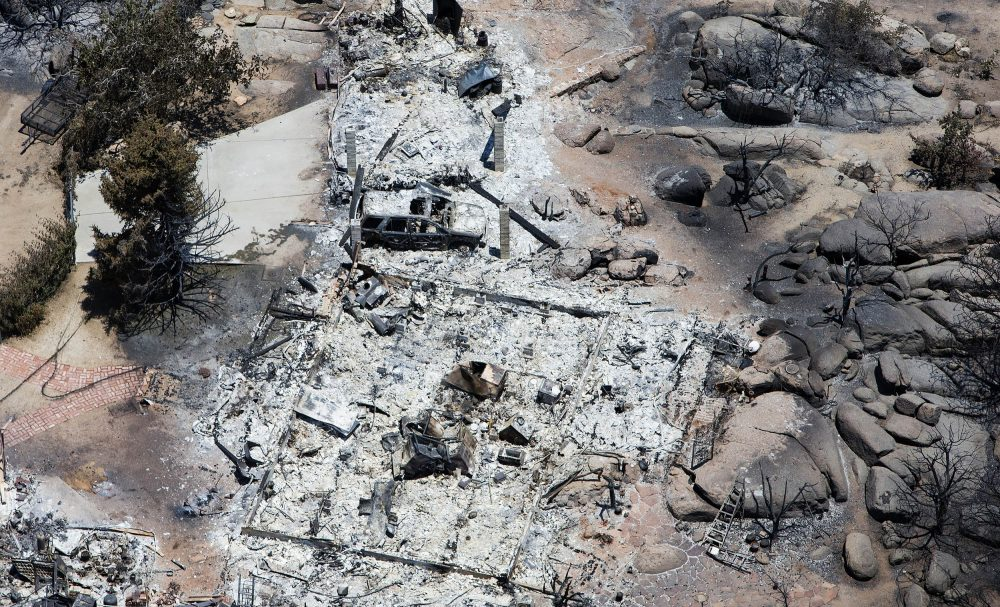 This aerial photo shows Yarnell, Ariz. on Wednesday, July 3, 2013, in the aftermath of the Yarnell Hill Fire that claimed the lives of 19 members of an elite firefighting crew. (Tom Tingle/AP)