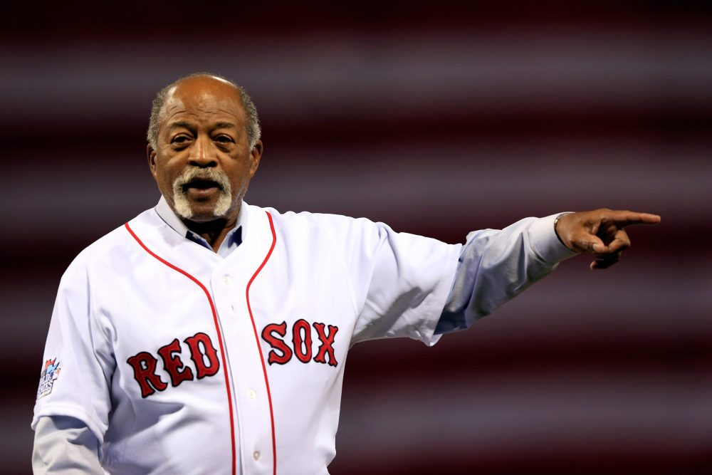 Former Boston Red Sox pitcher Luis Tiant before Game One of the 2013 World Series at Fenway Park. (Jamie Squire/Getty Images)