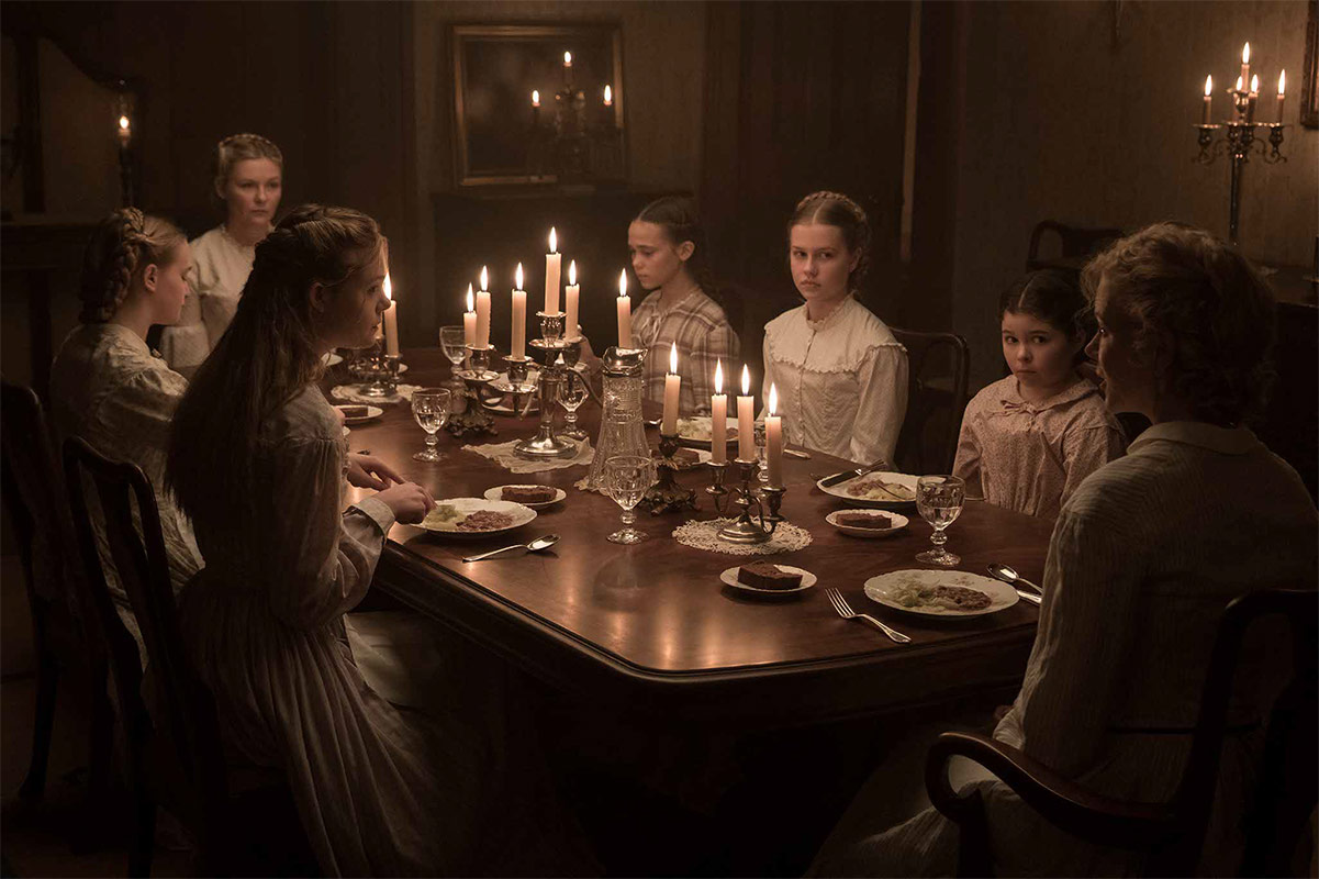 """The cast of Sofia Coppola's """"The Beguiled"""" including Nicole Kidman, Elle Fanning, Emma Howard, Kirsten Dunst, Oona Laurence, Angourie Rice and Addison Riecke. (Courtesy Focus Features)"""