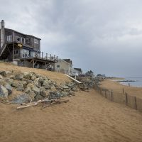 Dan and Harriet Tolpin's house on Plum Island Beach (Jesse Costa/WBUR)