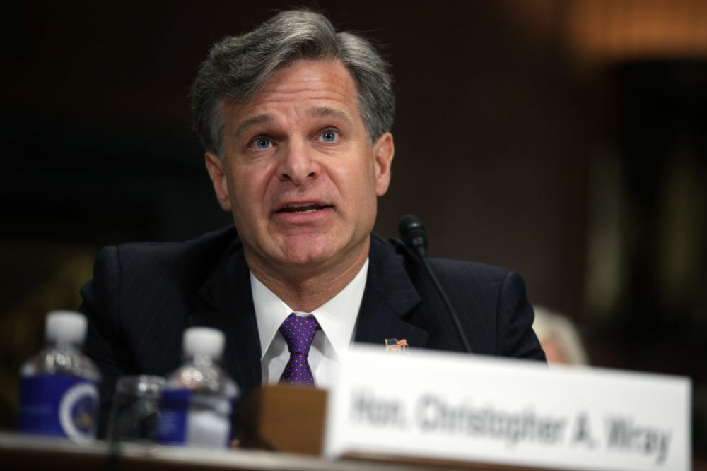 FBI director nominee Christopher Wray testifies during his confirmation hearing before the Senate Judiciary Committee, July 12, 2017 on Capitol Hill in Washington. If confirmed, Wray will fill the position that has been left behind by former director James Comey who was fired by President Donald Trump about two months ago. (Alex Wong/Getty Images)