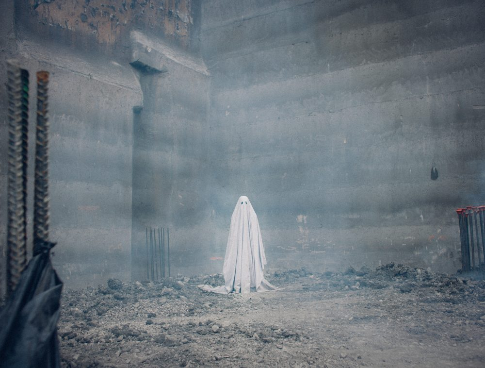 "A scene from ""A Ghost Story."" (Courtesy Bret Curry/A24)"