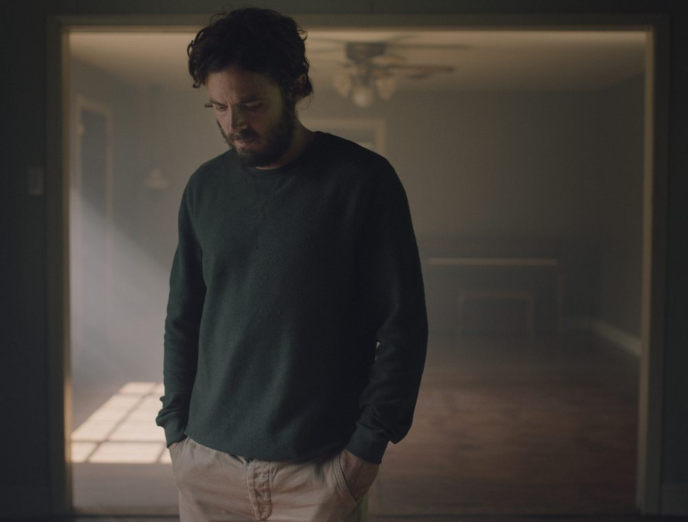 "Casey Affleck in ""A Ghost Story."" (Courtesy Bret Curry/A24)"