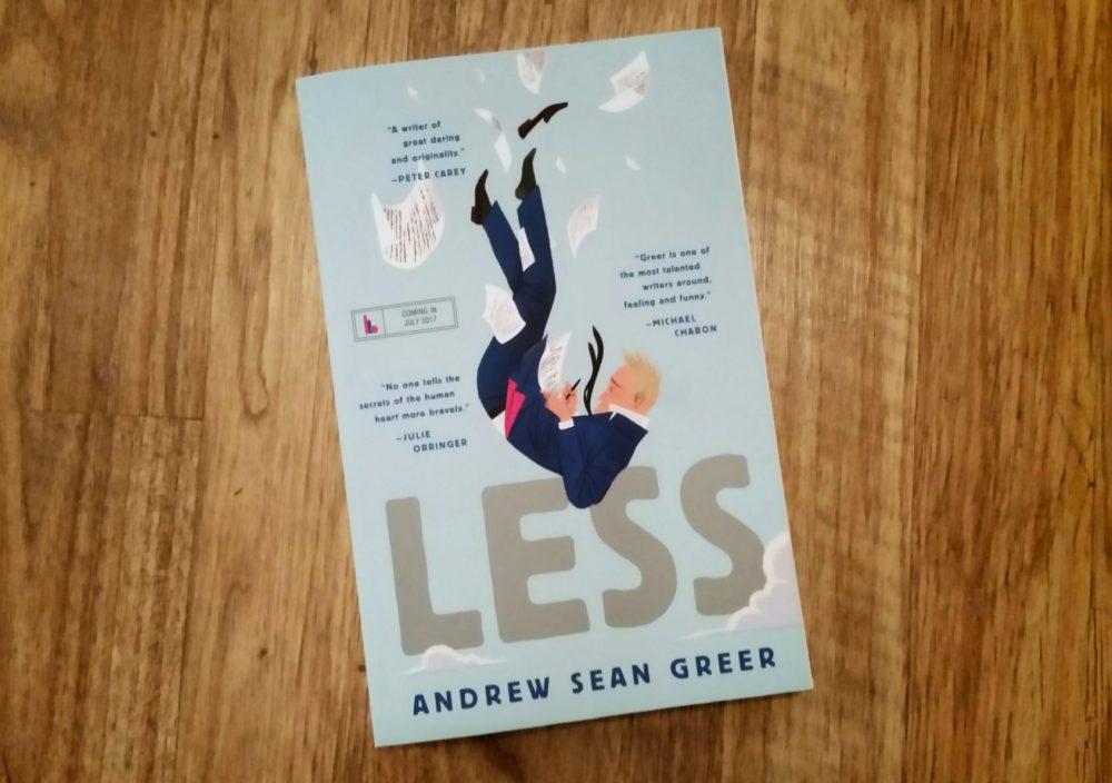 """""""Less"""" by Andrew Sean Greer. (Carol Iaciofano for WBUR)"""