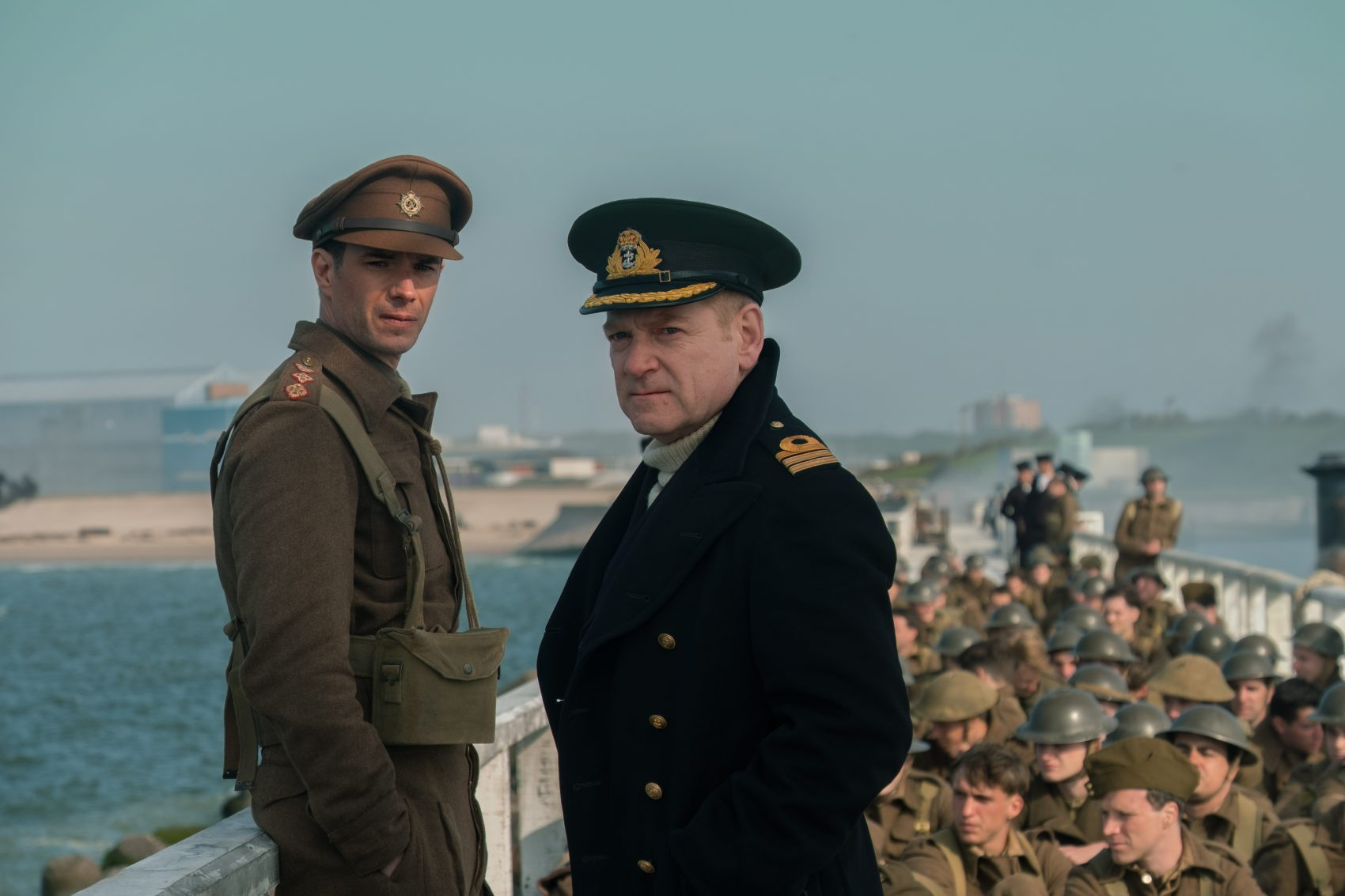 "James D'Arcy, left, and Kenneth Branagh in ""Dunkirk."" (Courtesy Warner Bros. Pictures)"