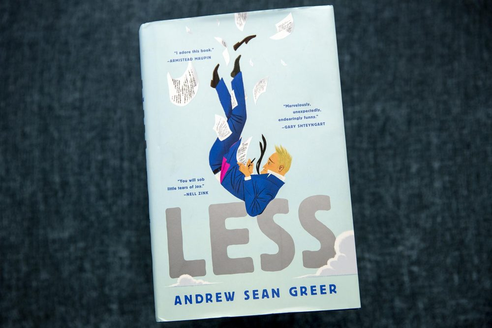 """Less,"" by Andrew Sean Greer. (Robin Lubbock/WBUR)"
