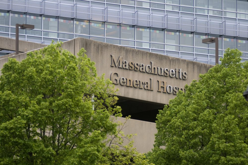 A sign for Massachusetts General Hospital adorns the parking garage at the hospital in 2008 in Boston. (Jodi Hilton/Getty Images)