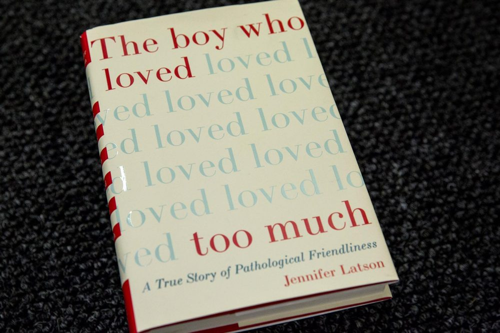 "The cover of ""The Boy Who Loved Too Much,"" by Jennifer Latson. (Robin Lubbock/WBUR)"